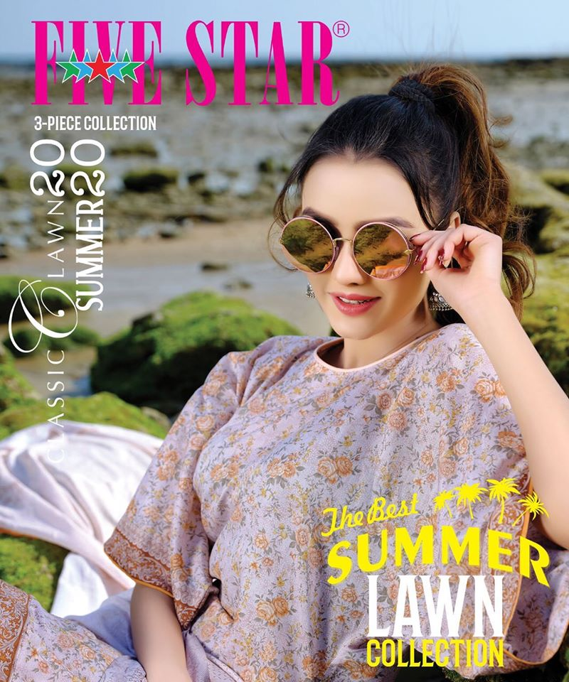 Five Star Lawn Collection 2017 Spring Summer Catalog & Prices |Five Star Lawn Eid Collection