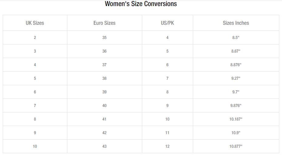 Unze london women shoes size guide